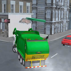 Image Amsterdam Garbage Truck