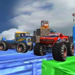 Image Monster Truck Stunts Sky Driving
